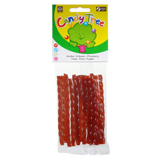 Candy Tree Organic Licorice Twists - Strawberry LARGE