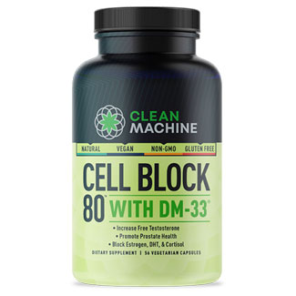 Cell Block 80 Natural Testosterone Booster by Clean Machine MAIN