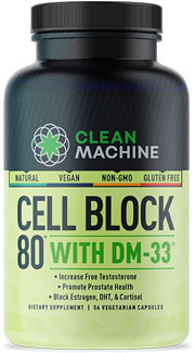 Cell Block 80 Natural Testosterone Booster by Clean Machine