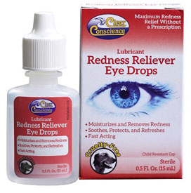 Redness Reliever Eye Drops by Clear Conscience LARGE