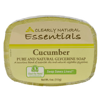 Clearly Natural Glycerine Soap - Cucumber MAIN