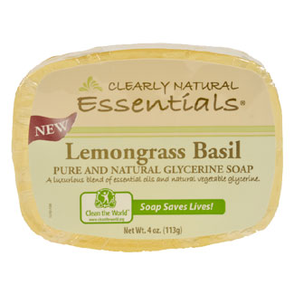 Clearly Natural Glycerine Soap - Lemongrass Basil MAIN