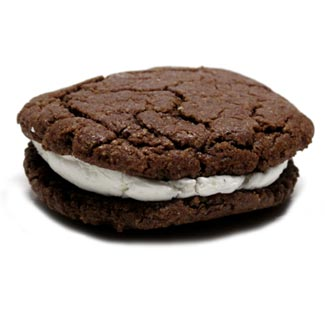 Cocoa Candy Cane Cookie Cream Sandwiches by Bit Baking Co. MAIN