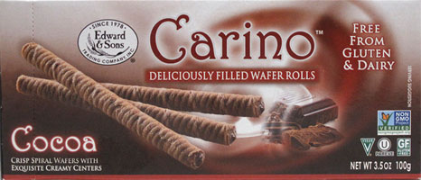 Carino Cocoa Cream Filled Wafer Rolls MAIN
