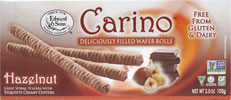 Carino Hazelnut Cream Filled Wafer Rolls THUMBNAIL