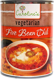 Caroline's Vegetarian Five Bean Chili