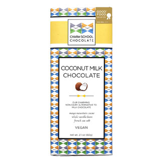 Coconut Milk Chocolate Bar by Charm School Chocolate MAIN