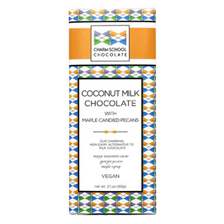 Coconut Milk Chocolate Bar with Maple Candied Pecans by Charm School LARGE