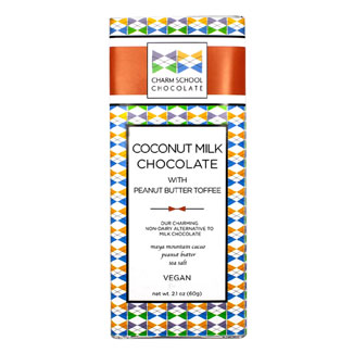 Coconut Milk Chocolate Bar with Peanut Butter Toffee by Charm School MAIN
