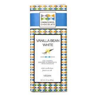 Charm School Chocolate Original Vanilla Bean White Bar MAIN