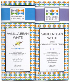 Vanilla Bean White Bars by Charm School Chocolate LARGE