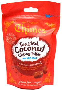 Toasted Coconut Chewy Toffee with Sea Salt Candies by Chimes