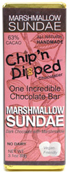 Marshmallow Sundae Dark Chocolate Bar by Chip 'n Dipped