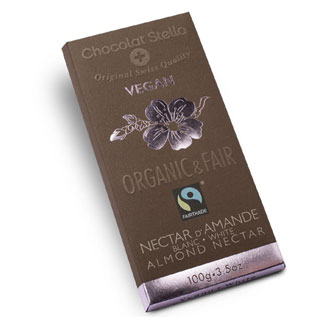 Organic White Chocolate Almond Nectar Bar by Chocolat Stella MAIN