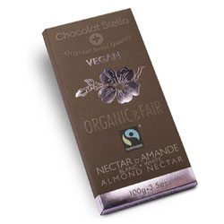 Organic White Chocolate Almond Nectar Bar by Chocolat Stella THUMBNAIL