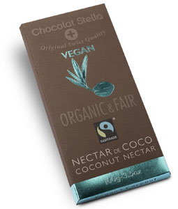 Organic Coconut Nectar Chocolate Bar by Chocolat Stella
