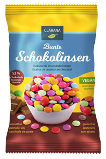 Clarana Organic Chocolate Beans LARGE