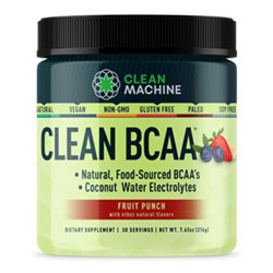 Clean BCAA Supplement by Clean Machine - Fruit Punch flavor THUMBNAIL