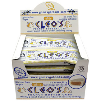 White Cleo's Vegan Peanut Butter Cups by Go Max Go Foods - Box of 12 packs LARGE