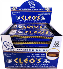 Cleo's Vegan Peanut Butter Cups by Go Max Go Foods - box of 12 LARGE