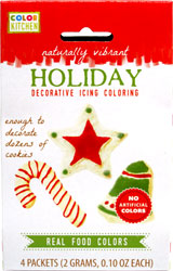 Holiday Decorative Icing Coloring by Color Kitchen