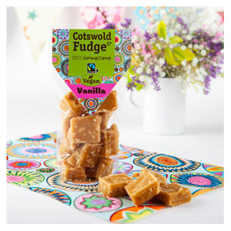 Dairy-Free Vanilla Fudge by Cotswald Fudge Co. LARGE