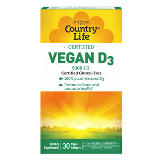 Vegan D3 Softgels by Country Life MAIN