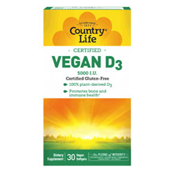 Vegan D3 Softgels by Country Life THUMBNAIL