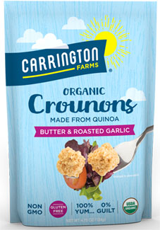 Dairy-Free Butter & Roasted Garlic Crounons Organic Quinoa Croutons by Carrington Farms