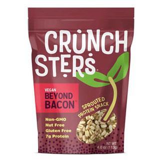 Crunchsters Vegan Beyond Bacon Sprouted Protein Snack LARGE