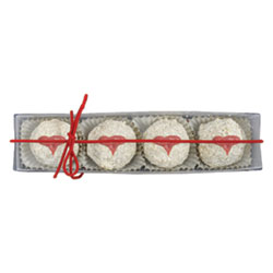 Organic Cupid's Kisses White Chocolate Hazelnut Truffle Box by Sjaaks THUMBNAIL