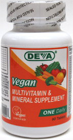 DEVA 1-A-Day Multi-Vitamin and Mineral Supplement LARGE