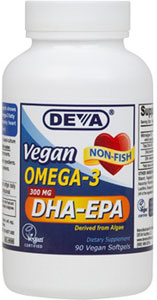 DEVA DHA-EPA 300mg High Potency Formula LARGE
