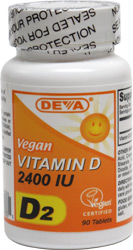 DEVA Vegan Vitamin D2 Tablets - 2400iu_LARGE