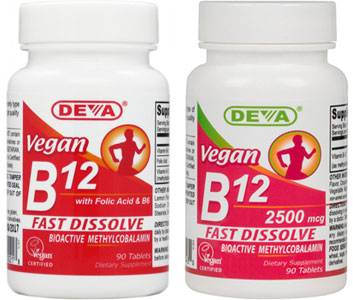 Vegan Sublingual B-12 by DEVA