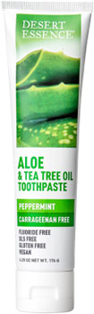 Desert Essence Aloe and Tea Tree Oil Peppermint Toothpaste_MAIN