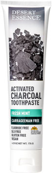 Desert Essence Activated Charcoal Fresh Mint Toothpaste LARGE