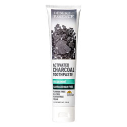 Desert Essence Activated Charcoal Fresh Mint Toothpaste THUMBNAIL