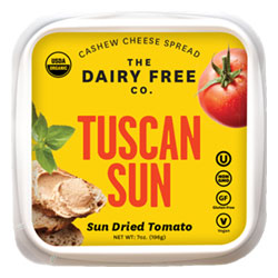 Tuscan Sun Organic Cashew Cheese Spread by The Dairy Free Co. THUMBNAIL