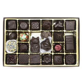 Royal Treasures 24 pc. Chocolate, Caramel and Truffle Assortment by Divine Treasures MAIN