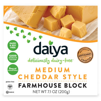 Daiya Farmhouse Style Cheese Block - Medium Cheddar MAIN