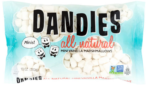 Mini Dandies Air-Puffed Vegan Marshmallows by Chicago Vegan Foods LARGE
