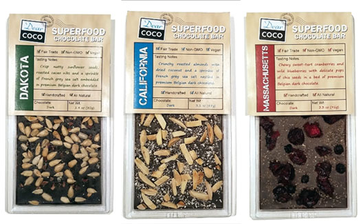 Superfood Artisan Chocolate Bars by Dear Coco