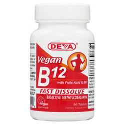 Vegan Sublingual B-12 by DEVA - 1000mcg THUMBNAIL