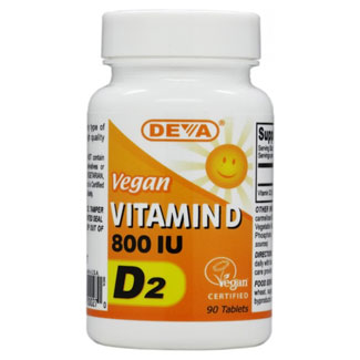 DEVA Vegan Vitamin D2 Tablets - 800iu MAIN