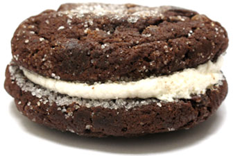 Divvies Chocolate Brownie Creamy Cookie Sandwich