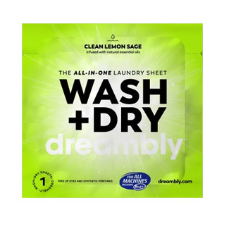 Wash + Dry All-In-One Laundry Sheets by Dreambly - 5 individual sheets MAIN