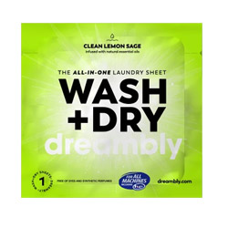 Wash + Dry All-In-One Laundry Sheets by Dreambly - 5 individual sheets THUMBNAIL
