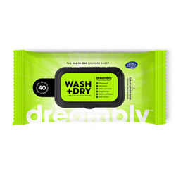Wash + Dry All-In-One Laundry Sheets by Dreambly - 40 sheet package THUMBNAIL