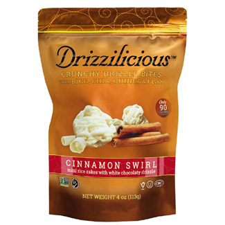 Drizzilicous Cinnamon Swirl White Chocolate Mini Rice Cakes MAIN